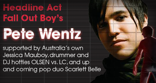 pete wentz 2010. Pete Wentz will be headlining